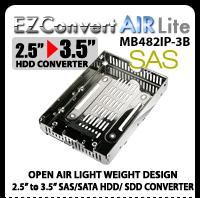 "EZConvert Air MB382IP-3B Open Air 2.5"" to 3.5"" SAS SSD/HDD Converter/Mounting Kit"