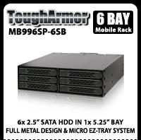 "ToughArmor MB996SP-6SB 6x2.5"" SATA HDD Hot Swap Mobile Rack"