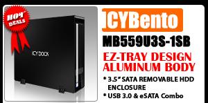ICYBento MB559U3S-1SB Slim USB 3.0 & eSATA External HDD Enclosure