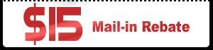 $15 Mail-in Rebate