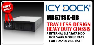 "MB671SK-BB Tray-less 3.5"" SATA Hard Drive Mobile Rack"