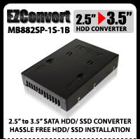 "EZConvert MB882SP-1S-1B 2.5"" to 3.5"" SATA SSD / Hard Drive Converter"