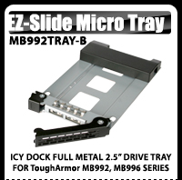 EZ Slide Micro Tray MB992TRAY-B DriveTray for ToughArmor MB992, MB996 Series