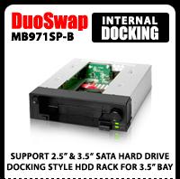 "DuoSwap MB971SP-B 2.5""/3.5"" SATA Hot Swap Drive Caddy"