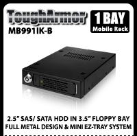 "ToughArmor MB991IK-B 2.5"" SAS/SATA Mobile Rack for 3.5"" Device Bay"