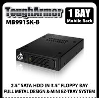 "ToughArmor MB991SK-B 2.5"" SATA Mobile Rack for 3.5"" Device Bay"