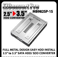 "EZConvert Pro MB982SP-1S Enterprise Full Metal 2.5"" to 3.5"" SATA Hard Drive/SSD Converter"