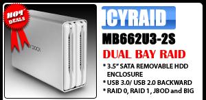 ICYRaid MB662U3-2S Dual bay SuperSpeed USB 3.0 RAID Enclosure