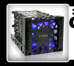 "Black Vortex MB074SP-B 3.5"" HDD 4 in 3 Module Cooler Cage"