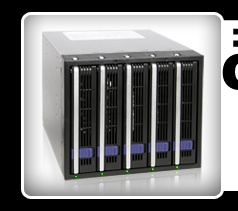 """DataCage Classic MB455SPF-B 5x3.5"""" in 3x5.25"""" Hot Swap HDD Cage"""