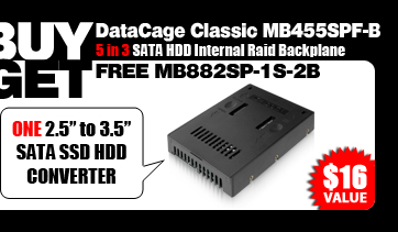 """One Free MB882SP-1S-2B 2.5"""" to 3.5"""" SATA SSD/ HDD Converter - $16 Value"""