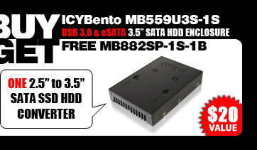 "One Free EZConvert MB882SP-1S-1B 2.5"" to 3.5"" SATA SSD / Hard Drive Converter - $20 Value"
