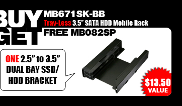 """One Free EZ-Fit PRO MB082SP Full Metal Dual 2.5"""" SSD/HDD Mounting Kit / Bracket - $13.50 Value"""
