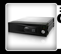 """MB877SK-B Tray-less 3.5"""" SATA Hard Drive Hot-Swap Mobile Rack for 5.25"""" Device Bay"""