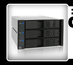 """FlexCage MB973SP-1B Tray-Less 3x3.5"""" in 2x5.25"""" SATA HDD Cage"""