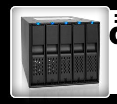 """FlexCage MB975SP-B Tray-Less 5x3.5"""" in 3x5.25"""" SATA HDD Cage"""