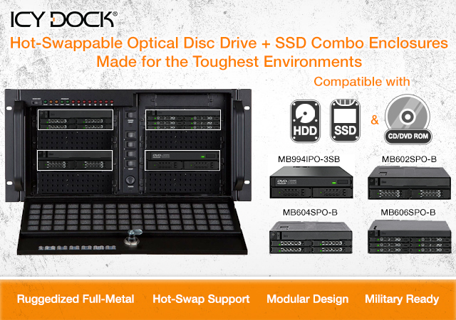 ICY DOCK ToughArmor ODD + SSD Combo Enclosures