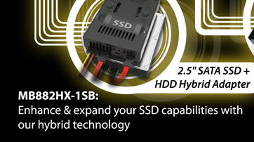 MB882HX-B SSD Xpander: Enhance & expand your SSD capabilities with our hybrid technology
