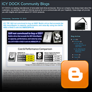 ICY DOCK Blogger sample image