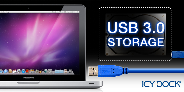 ICY DOCK new macbook pro usb 3.0 storage banner