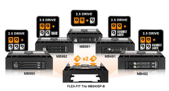 Icy Dock MB991TRAY-B SAS Drive Tray for MB991IK MB991TRAYB 2.5 SATA MB994SP Series