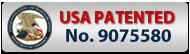 logo USA patented N°9075580