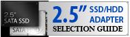 Guide de sélection des adaptateurs 2.5 pouces pour HDD et SSD