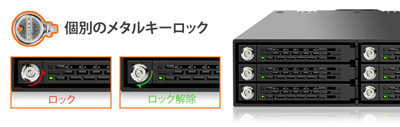 mb996sk-6sb トレイ固定用の鍵を実装