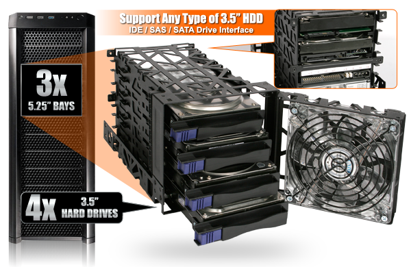 "... drive as well, or if you would like to mount two 2.5"" drives in a single bay, you can utilize our EZ-Fit series SSD / HDD bracket to incorporate more ..."
