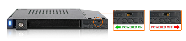 Zoom sur l'interrupteur d'alimentation du MB511SPO-B
