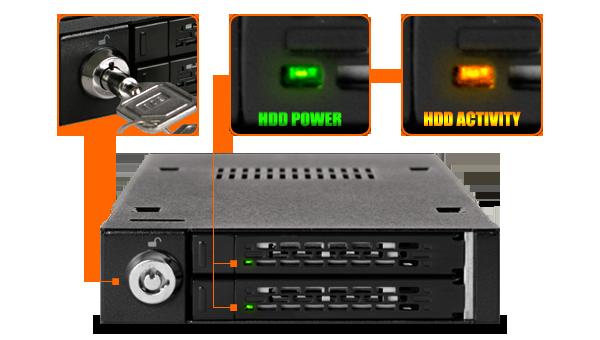 photo des indicateurs LED d'activité de disque dur mb992sk-b