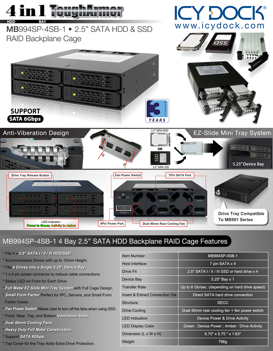Product Information Chart Ssd Bracket Black Metal 25 Inch To 35 Datasheet