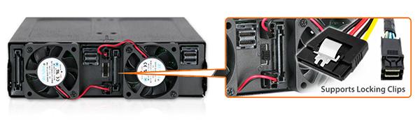 Photo des ports prévus pour les loquets de verrouillage sur le MB998IP-B