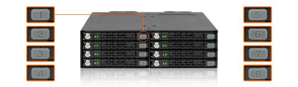 Photo des étiquettes d'identification de disque en option